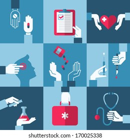 Medical and health care design elements
