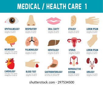 Medical & Health Care.flat modern icons,vector, elements design for flyer, website, magazine, banner, presentation,brochure,illustration