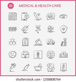 Medical And Health Care Hand Drawn Icon for Web, Print and Mobile UX/UI Kit. Such as: Medical, Chatting, Plus, Health, Mobile, Cell, Tooth, Medical, Pictogram Pack. - Vector