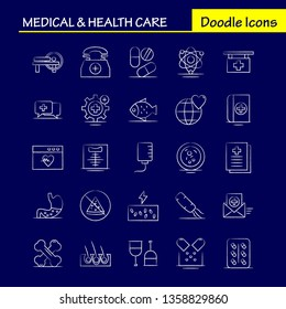 Medical And Health Care Hand Drawn Icon for Web, Print and Mobile UX/UI Kit. Such as: Healthcare, Hospital, Medical, Lab, Medical, Setting, Hospital, Plus, Pictogram Pack. - Vector