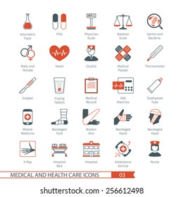 Medical and Health Care Icons Set 03