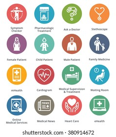 Medical & Health Care Icons Set 2 - Dot Series