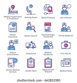 Medical & Health Care Icons Set 2 - Outline Series