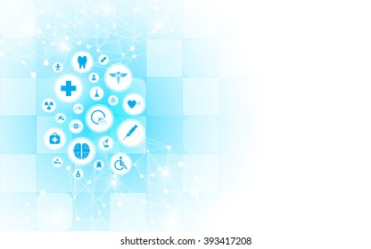 medical health care innovation abstract background