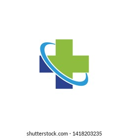 Medical and health care logo design icon vector template