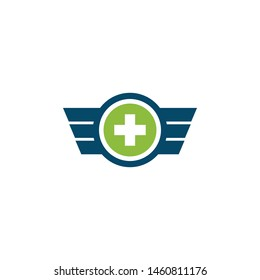 Medical and health care logo design vector template