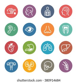 Medical & Health Care Specialties Icons Set 1 - Dot Series