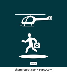 Medical Health helicopter Icon
