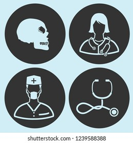 Medical and health vector icon set