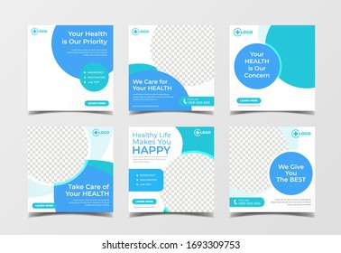 Medical healthcare banner for flyer and social media post template