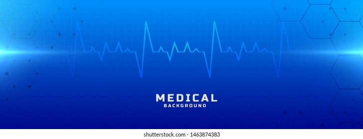 medical and healthcare blue background