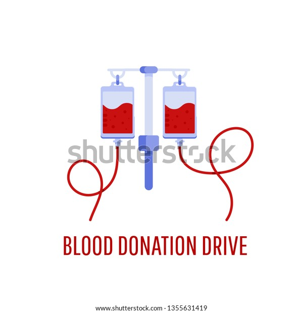 Medical Healthcare Concept Donate Blood Bag Stock Vector