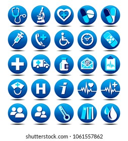 Medical Healthcare Icons Collection, Symbols, Set