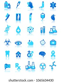 Medical Healthcare Icons Set, Stylish Pharmaceutical Symbols, for use in your products and presentations.