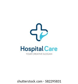 Medical health-care logo design template.- vector logo
