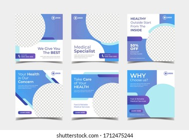 Medical and healthcare social media post template