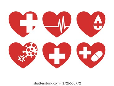 Medical heart cartoon drawing Is a vector or illustration Can be used with various media and designs.