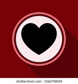 Medical heart pill sign icon. Pharmacy medicine drug symbol.