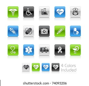 Medical & Heath Care // Clean Series -------It includes 4 color versions for each icon in different layers ---------