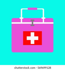 Medical Help  First-aid kit in an accident