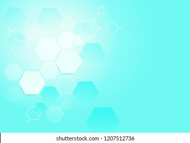 Medical hexagon background. Medical background for web site, poster, placard, wallpaper and banner. Useful for brochure, layout, leaflet and backdrop. Modern healthcare concept, vector illustration