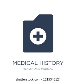 Medical history icon. Trendy flat vector Medical history icon on white background from Health and Medical collection, vector illustration can be use for web and mobile, eps10