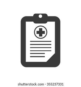 medical history icon. vector illustration