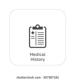 Medical History and Medical Services Icon. Flat Design.