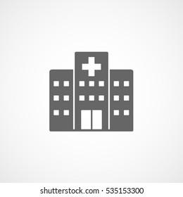 Medical Hospital Flat Icon On White Background
