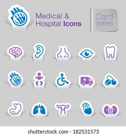 Medical & hospital related icons.