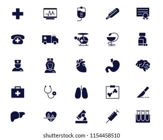 medical icon glyph set design round illustration,glyph style design, designed for web and app