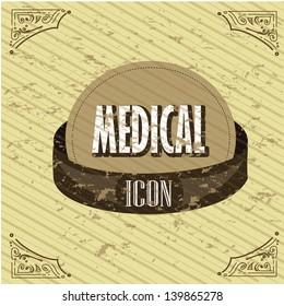 medical icon over vintage background vector illustration