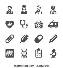 medizinisches Icon Set 4, Vektor eps10.