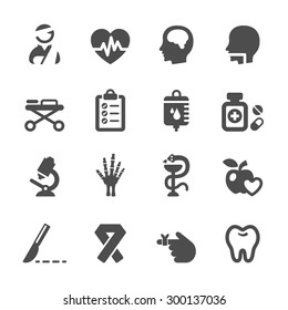 medical icon set 5, vector eps10.