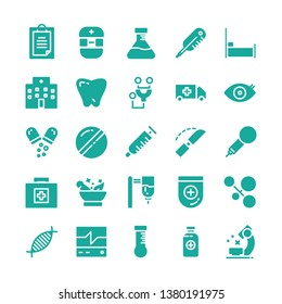 Medical icon set with glyph style vector illustration