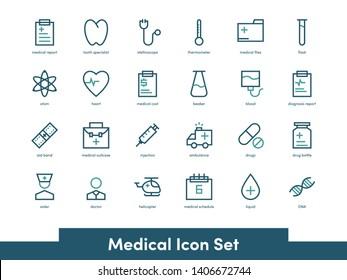 Medical Icon set with minimalist style
