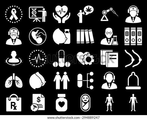 Medical Icon Set These Flat Icons Stock Vector (Royalty Free