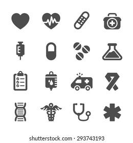 medical icon set, vector eps10.