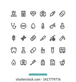 Medical Icon Set Vector Illustration Logo Template