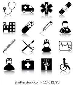 Medical icons - 16 medical related icons.