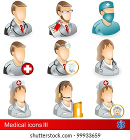 Medical icons 3 - medical professions.