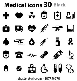 Medical Icons  - black