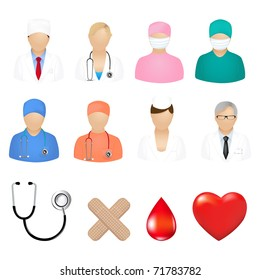 Medical Icons, Isolated On White Background, Vector Illustration