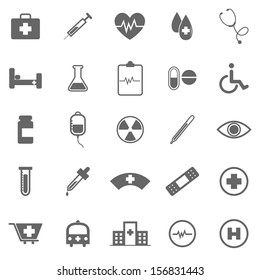 Medical icons on white background, stock vector