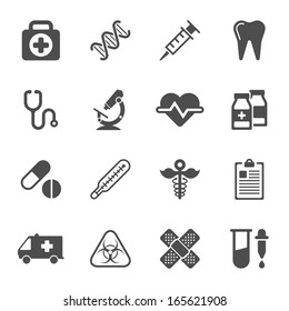 Medical icons on white background. Vector elements