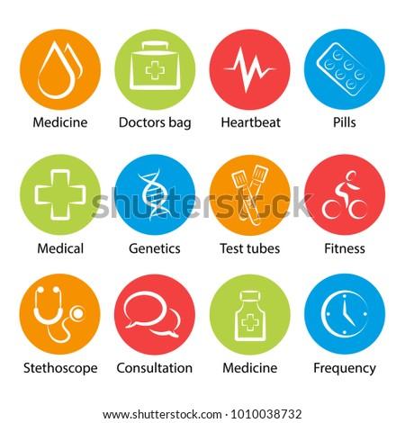 medical icons presentations artwork stock vector royalty free