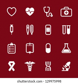 Medical Icons with Red Background : NO.1