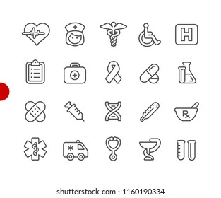 Medical Icons // Red Point Series - Vector line icons for your digital or print projects.