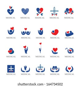 Medical Icons Set - Isolated On White Background - Vector Illustration, Graphic Design Editable For Your Design