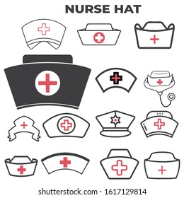 medical icons set on black and red